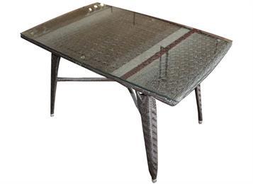 钱柜娱乐网站,钱柜娱乐官方网站_方形藤桌 桌面钢化玻璃 五金结构框架西餐桌