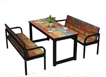 工业风铁艺复古做旧餐桌