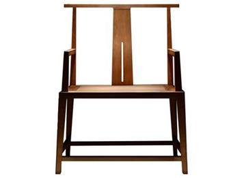 老榆木官帽椅 实木禅椅 新中式圈椅古典实木太师