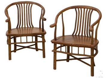 全鸡翅木扇椅仿古中式圈椅实木休闲靠背围椅