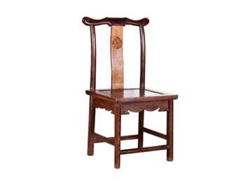 鸡翅木官帽椅 仿古实木椅红木靠背椅