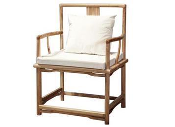 明清官帽椅 老榆木靠背椅实木椅