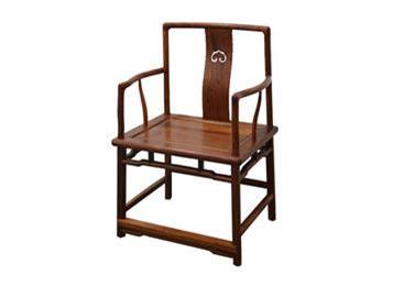 胡桃木帽茶椅 禅椅 椅子 官帽椅
