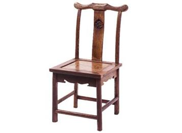 明清仿古典实木酒店餐椅 老榆木饭店凳子