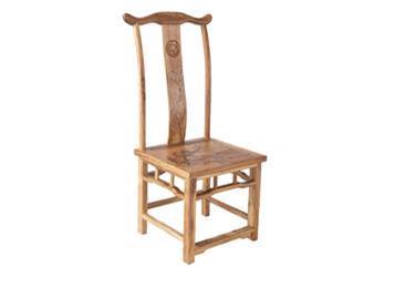 简约仿古 明清古典老榆木酒店饭店餐椅实木官帽