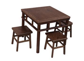 仿古红木鸡翅木家具 花梨木小方桌