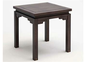 鸡翅木清式雕花四方餐桌 仿古实木八仙桌组合