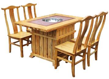 钱柜娱乐网站_实木复古大理石煤气灶电磁炉火锅桌椅