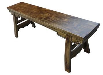 小龙坎实木仿古长条凳