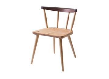 黑胡桃木樱桃木餐椅北欧实木椅子