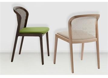 现代简约休闲实木餐椅