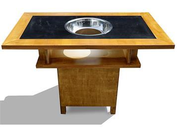 钱柜娱乐网站_大龙焱复古做旧实木雕刻电磁炉下沉式火锅桌椅