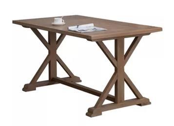 美式乡村实木餐桌 复古做旧餐桌