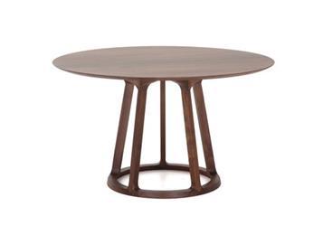 北欧黑胡桃木实木餐桌
