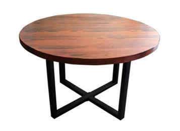 钱柜娱乐官方网站【首页】_ 简约实木圆形做旧餐桌