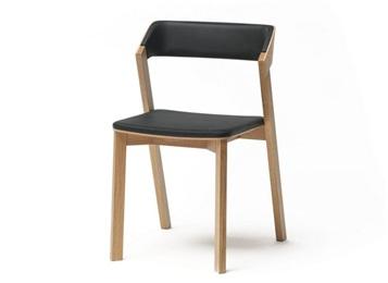 员工食堂实木皮革椅子