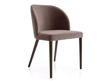 现代简约创意食堂靠背椅_皮革实木食堂餐椅