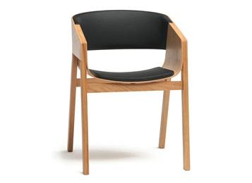 日式简约实木食堂靠背扶手椅