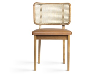 食堂简约时尚藤条实木餐椅