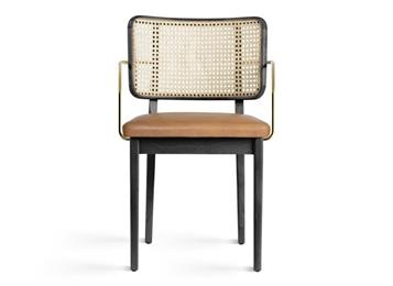 食堂现代不锈钢藤条椅子
