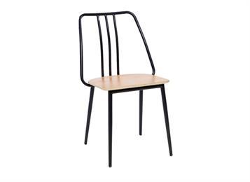 钱柜娱乐官方网站【首页】_现代简约创意食堂靠背椅 铁艺实木餐椅