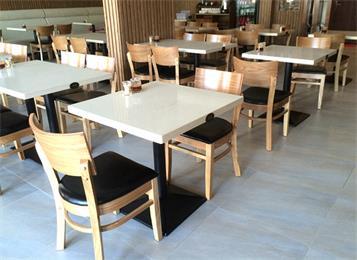 员工学校单位食堂大理石餐桌椅-厂家批发直销