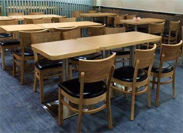 2人位员工食堂餐桌椅_4人位单位食堂快餐桌椅-厂