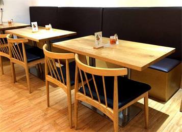 学校4人食堂餐桌椅_食堂