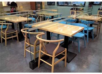 4人公司食堂餐桌椅_机关职工食堂餐桌