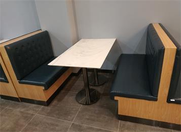 食堂快餐店4人位大理石桌