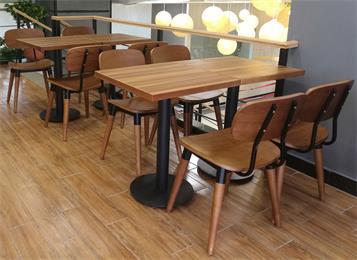 2人、4人位企业公司职工食堂单位餐厅实木桌椅