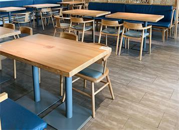 单位员工食堂桌椅_单位饭堂桌椅批发定制