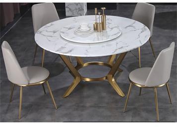 公司企业大理石不锈钢食堂桌椅