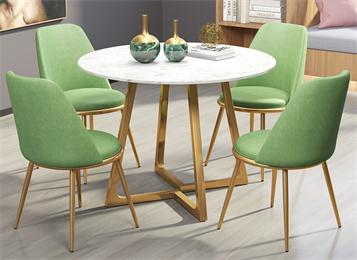公司企业食堂桌椅小清新食堂桌椅