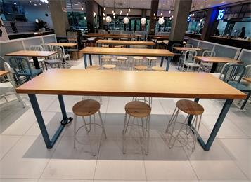 学校食堂餐桌餐椅_学生食堂餐桌椅
