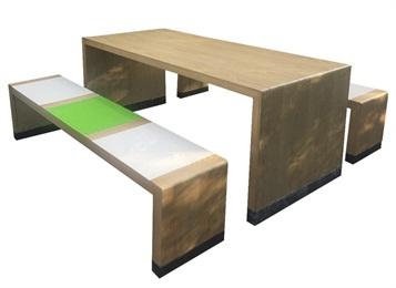 学校学生教职工食堂实木餐桌餐椅