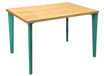 学校学生职工食堂4人位实木餐桌