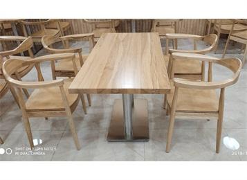 大型企业食堂实木桌椅