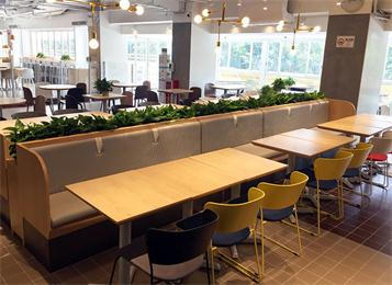 学校教职工食堂中式实木