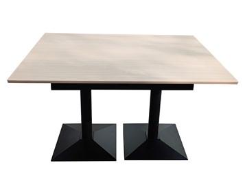 政府机关食堂极简风格实木餐桌