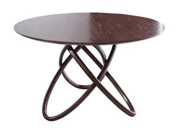 北欧现代实木圆形餐桌