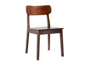 现代简约实木靠背椅 曲木椅子