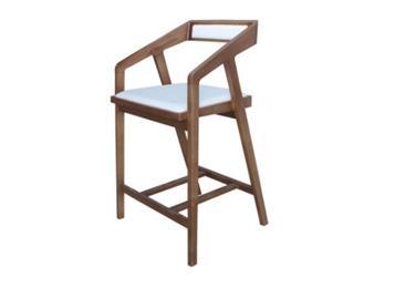 北欧吧椅水曲柳实木高脚