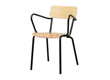 金属铁艺简约休闲实木椅