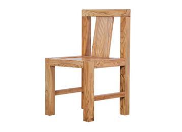 钱柜娱乐网站_田园榆木实木餐椅