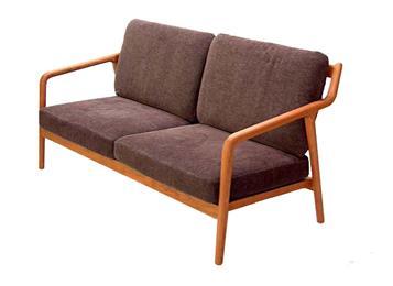 西餐厅黑胡桃实木沙发