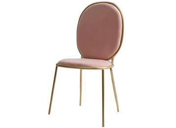 北欧轻奢餐椅西餐厅后现代简约不锈钢电镀餐椅