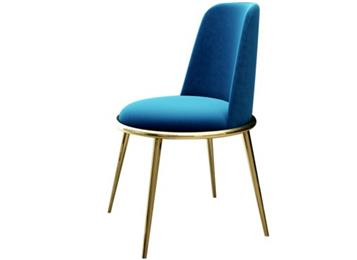 北欧现代简约轻奢餐椅不锈钢镀金靠背椅
