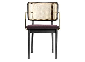 创意西餐厅实木轻奢带扶手餐椅