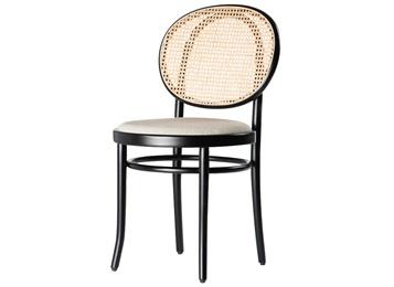 北欧现代藤编实木西餐厅酒店咖啡厅靠背休闲椅